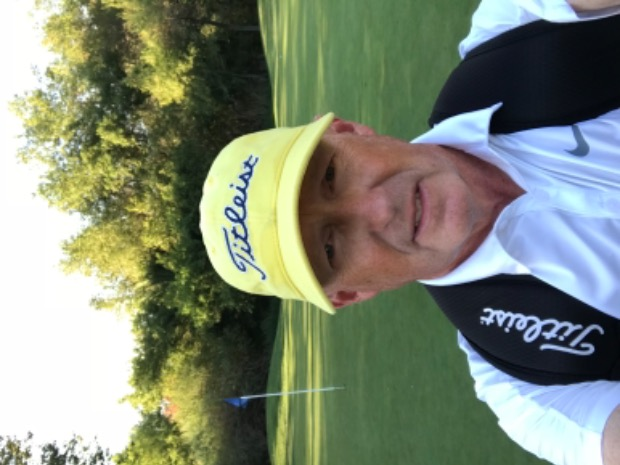 I had to break out the yellow Titleist hat tonight and play nine holes as  my way of saying thanks to our fellow Titleist player. f4b6dea2a1a